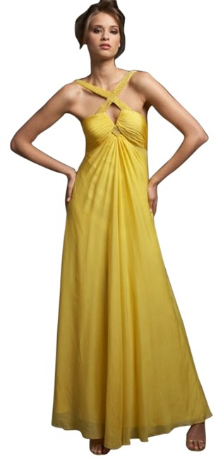Preload https://item4.tradesy.com/images/aidan-mattox-yellow-cross-front-beaded-gown-long-formal-dress-size-2-xs-4207768-0-0.jpg?width=400&height=650