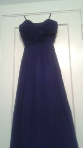 Donna Morgan Midnight/Navy/Blue Chiffon Laura Formal Bridesmaid/Mob Dress Size 2 (XS)