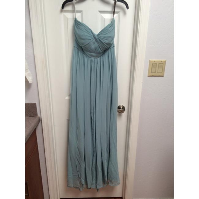 Item - Blue Luxe Chiffon Aidan Ciel Modern Bridesmaid/Mob Dress Size 4 (S)
