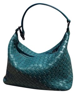 Bottega Veneta Handmade Woven Leather Lambskin Shoulder Bag