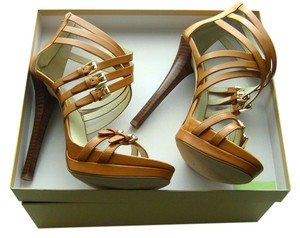 Michael Kors Leather Strap Sandals brown Pumps