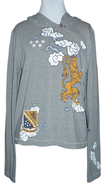 Preload https://item1.tradesy.com/images/heather-grey-blue-marlin-five-star-vintage-lion-crest-graphic-sweatshirthoodie-size-14-l-4207945-0-0.jpg?width=400&height=650
