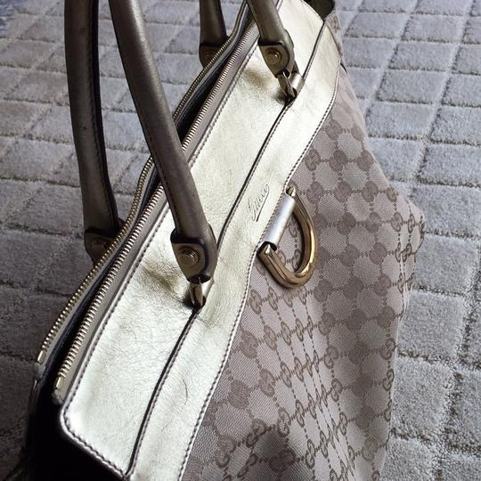 Gucci Tote in Monogram Beige Ebony