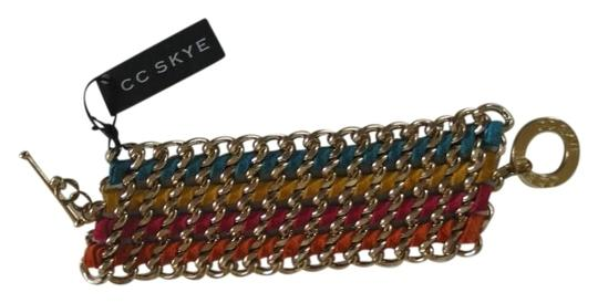 Preload https://item2.tradesy.com/images/cc-skye-multi-colored-leather-and-metal-strand-bracelet-420816-0-0.jpg?width=440&height=440