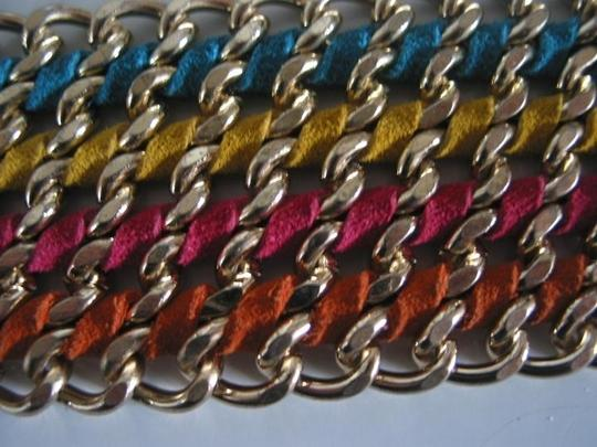 CC SKYE Leather & metal multi strand
