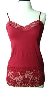 White House | Black Market Lace Cami Top red