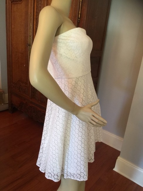 Betsey Johnson White Floral Lace Dress