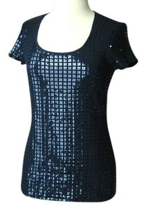 White House | Black Market Sequin Top blue