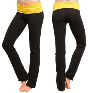Black/Gold Nwot Yoga Pants