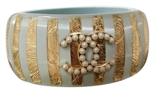 Chanel NEW CHANEL '13C CRUISE COLLECTION PASTEL ACRYLIC CC CUFF BRACELET