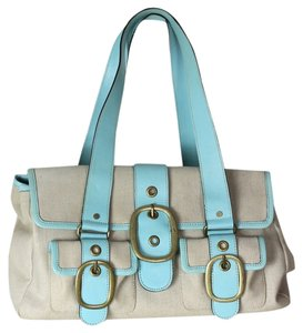 Banana Republic Beach Doctor's J Crew Brunch Satchel in Blue Tan