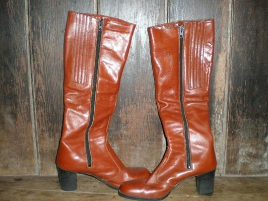 Bandolino Nice Soft Leather Uppers With Nylon Lining And Comfortable Heel. CORDOVAN Boots