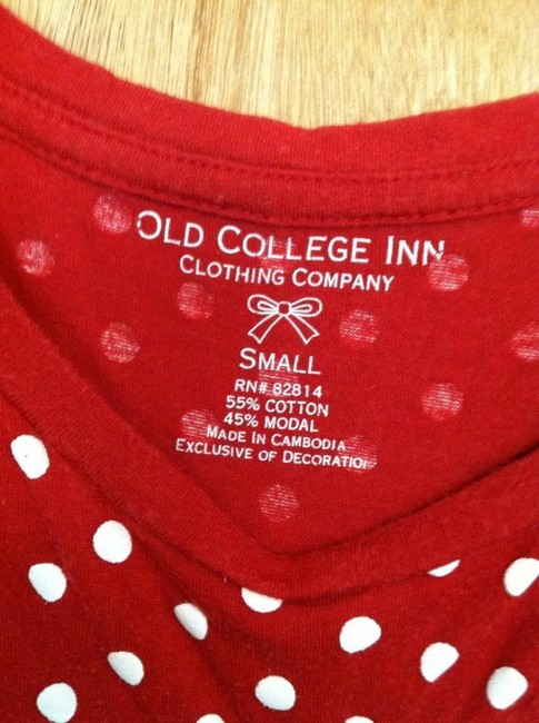 Old College Inn T Shirt Red