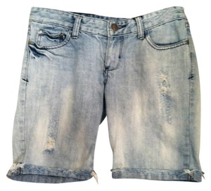Decree Cut Off Shorts Light Denim