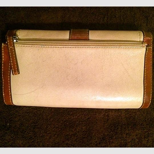 Coach Legacy Soho Checkbook Wallet, In Luggage and White