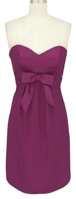 Preload https://item1.tradesy.com/images/purple-satin-sweetheart-bow-formal-knee-length-cocktail-dress-size-22-plus-2x-421305-0-2.jpg?width=400&height=650