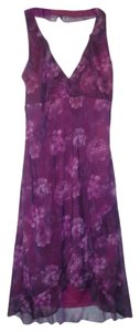 Byer Too short dress Purple Halter Ruffle Floral on Tradesy
