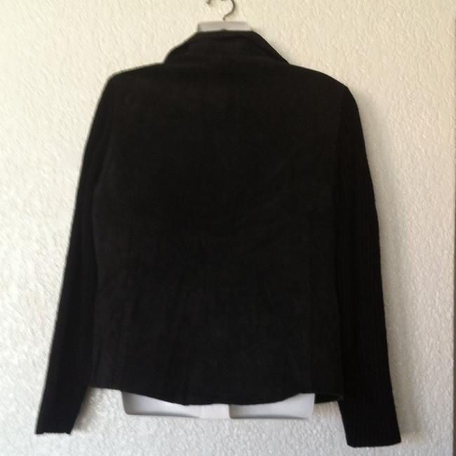 Ami Knit Leather Jacket