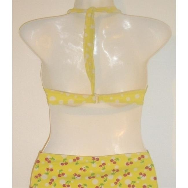Xhilaration Itsy Bitsy Teeny Weeny Yellow Polka Dot Cherry Bikini