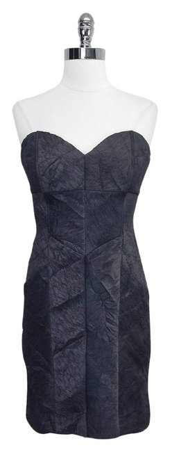 Preload https://item2.tradesy.com/images/nicole-miller-grey-textured-strapless-mid-length-short-casual-dress-size-8-m-4214011-0-0.jpg?width=400&height=650