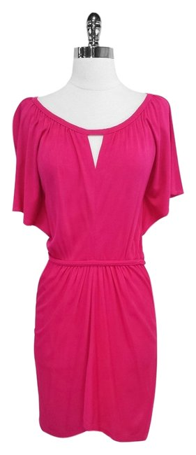 Yoana Baraschi short dress Hot Pink Short Sleeve on Tradesy