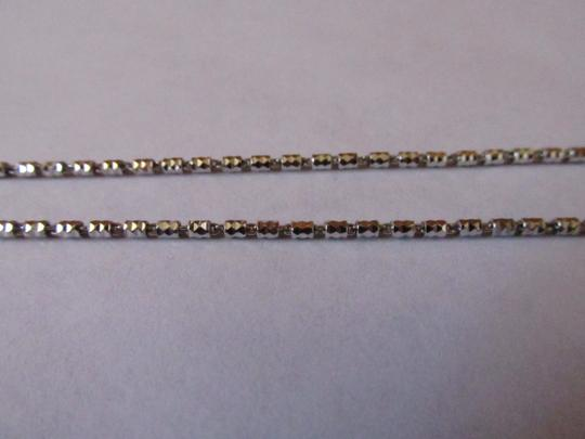 Other 18K White Gold Rhodium Sterling Silver Diamond Cut Tube Chain
