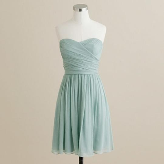 J.Crew Blue Chiffon Arabelle In Silk Dusty Shale Feminine Bridesmaid/Mob Dress Size 6 (S)