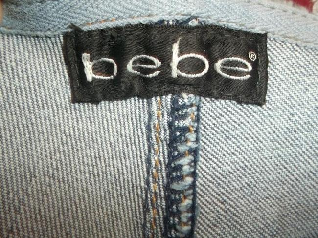 Bebe Bling2x Crystal Size 29 Relaxed Pants Flare Leg Jeans-Medium Wash