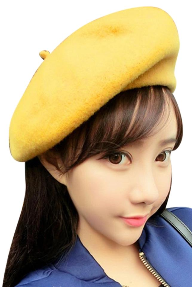 Yellow Sweet Candy Color Beret Hat - Tradesy 6873163a29f
