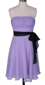Purple Chiffon Pleated Bust W/ Removable Sash Formal Bridesmaid/Mob Dress Size 2 (XS)