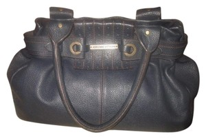 Adrienne Vittadini Leather Satchel in BLUE