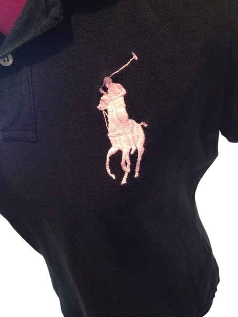 Preload https://item3.tradesy.com/images/ralph-lauren-black-pink-pony-polo-shirt-sweaterpullover-size-12-l-421882-0-1.jpg?width=400&height=650