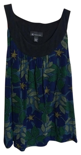 Preload https://item4.tradesy.com/images/inc-international-concepts-blue-green-yellow-black-tank-topcami-size-12-l-421893-0-0.jpg?width=400&height=650