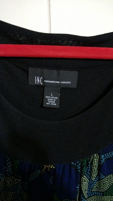 INC International Concepts Top blue, green, yellow, black