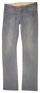 AG Adriano Goldschmied Flap Pockets Button Fly Straight Leg Jeans-Light Wash