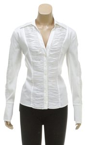 Escada Button Down Shirt White