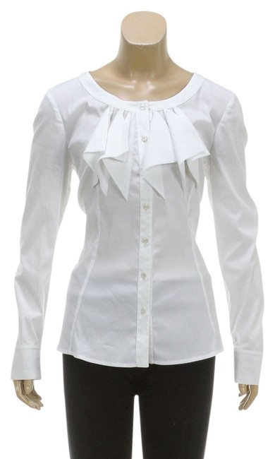 Preload https://item2.tradesy.com/images/escada-white-long-sleeve-ruffle-38-rc-114575-button-down-top-size-8-m-4227316-0-0.jpg?width=400&height=650
