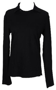 Versace 280 48000777 Polo Shirt Solid Womens Blouse Top Black