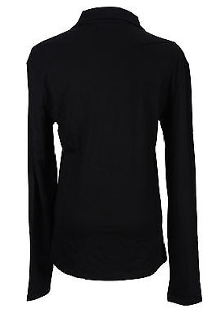 Versace 280 48000777 Shirt Solid Womens Blouse Top Black
