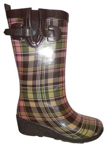 Capelli New York brown, pink & green plaid Boots