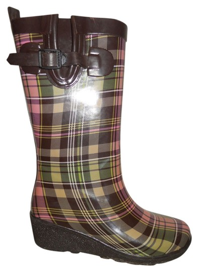 Preload https://item1.tradesy.com/images/capelli-new-york-brown-pink-and-green-plaid-rain-bootsbooties-size-us-8-regular-m-b-4229005-0-0.jpg?width=440&height=440