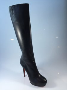 Christian Louboutin 140mm Knee High Black Boots