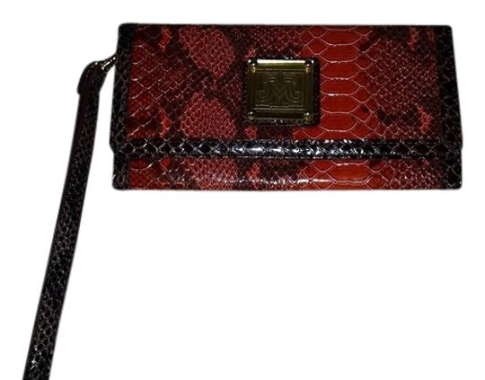 Preload https://item5.tradesy.com/images/miss-tina-orange-and-black-snakeskin-pattern-leather-clutch-4229104-0-0.jpg?width=440&height=440