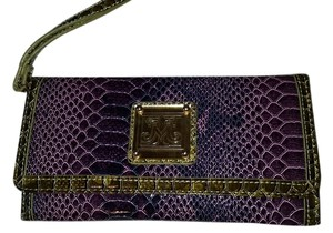 Miss Tina Purple and green Clutch