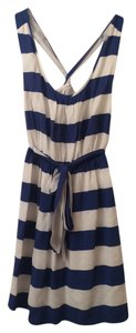Banana Republic short dress Royal blue and white on Tradesy