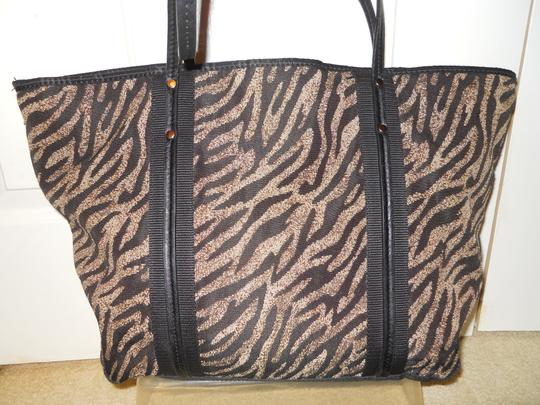 Franco Sarto Man Made Tote in black & tan