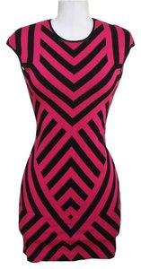 RVN short dress Black, Fuschia Pink on Tradesy