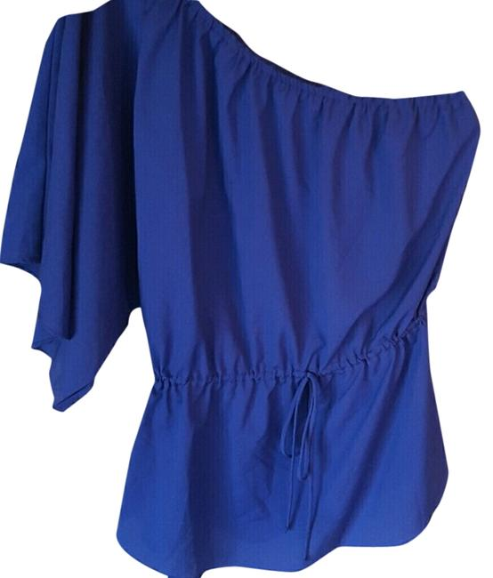 Mossimo Supply Co. One Shoulder Top purplish blue