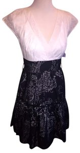 Kay Unger short dress Black and White on Tradesy
