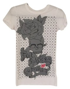 Fox T Shirt White and grey